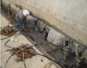 Commercial structural repair using steel piers